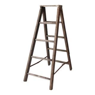 Vintage Wooden Folding Ladder