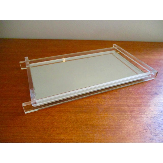 Art Deco Lucite & Mirrored Vanity Tray - Image 2 of 7