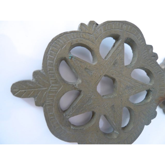 Antique Moroccan Brass Door Knocker - Image 6 of 7