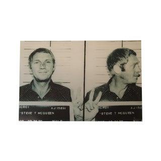 Steve McQueen Mug Shot Print