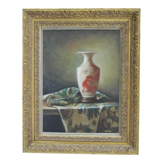Still Life Painting of Chinese Vase