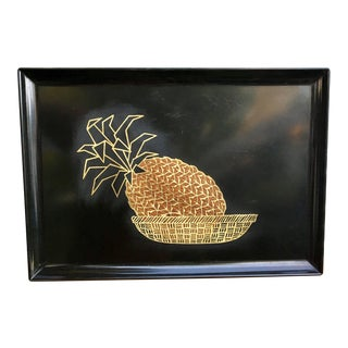 Mid-Century Couroc Brass Inlaid Pineapple Tray
