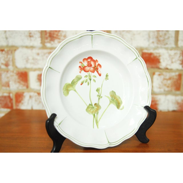 """Set of 66 French Luneville Hand-Painted Floral Dining Plates """"Rovina Epinal"""" - Image 3 of 11"""