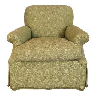 Schumacher Furnishings Green Woven Upholstered Club Chair