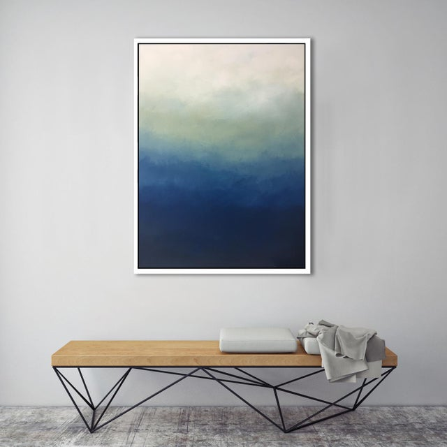 """Image of """"Abstract Blue Ombre"""" Framed Giclée"""