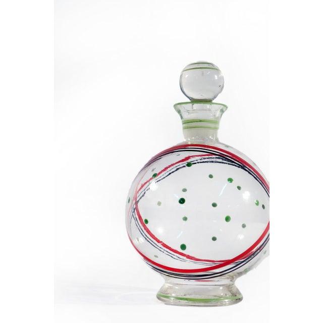 Czech Glass Decanter Set - Set of 7 - Image 5 of 6