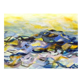 Moon Tide Acrylic Abstract Landscape Painting