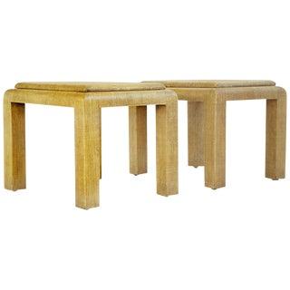 Pair of Lamp Tables Karl Springer Style