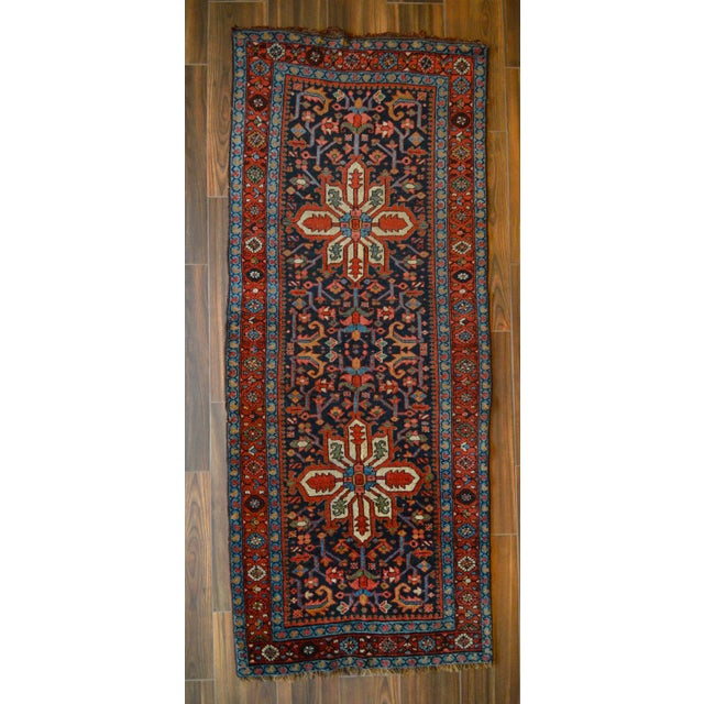 Antique Persian Heriz Karajeh Runner- 3′6″ × 8′10″ - Image 2 of 11