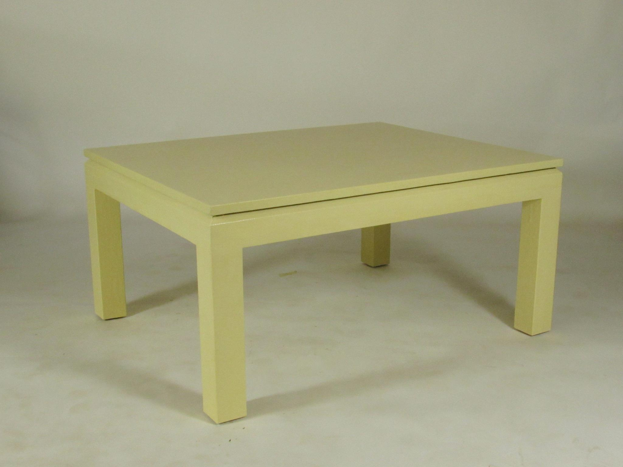 Delightful Custom Linen Wrapped Coffee Table   Image 2 Of 8