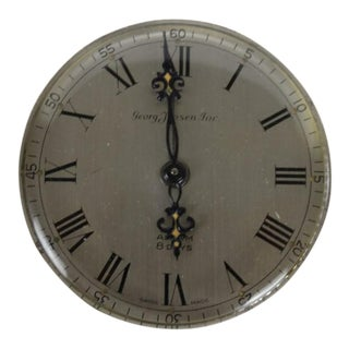 Vintage Georg Jensen Inc. 8 Days Alarm Pedestal Clock