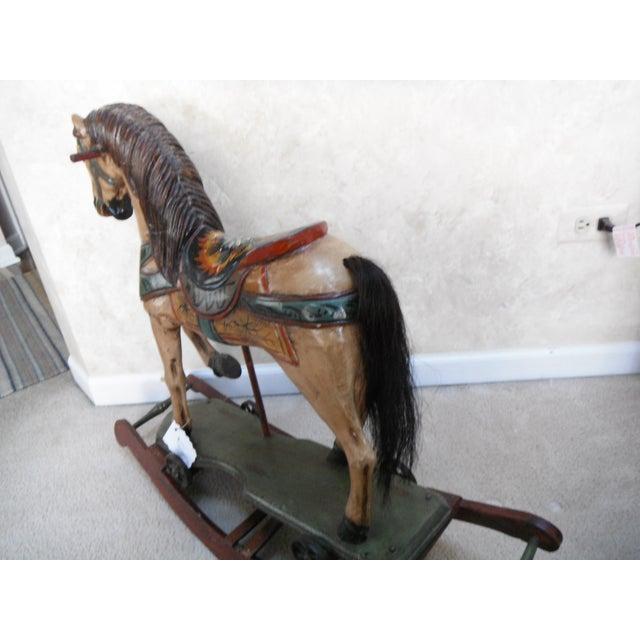 Vintage Display Hand Painted Rocking Horse - Image 5 of 10
