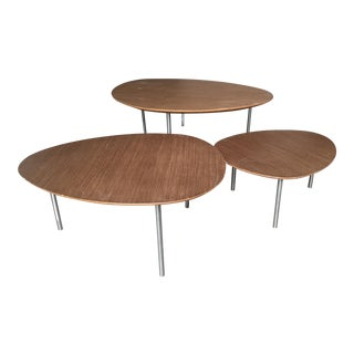 DWR STUA Eclipse Walnut Nesting Tables- Set of 3
