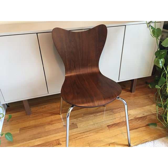 West Elm Scoop Back Chairs - A Pair - Image 4 of 6