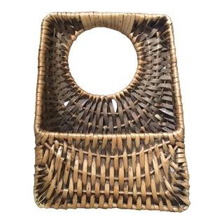 French Wicker Hanging Basket Front Door Decor