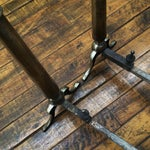Image of Vintage Tall Brass Andirons - A Pair