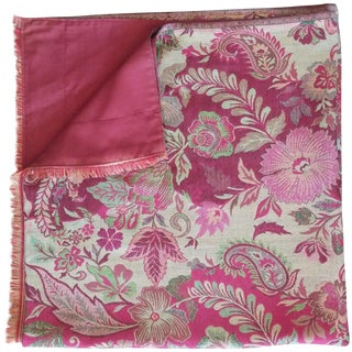 Ruby Embroidered Throw