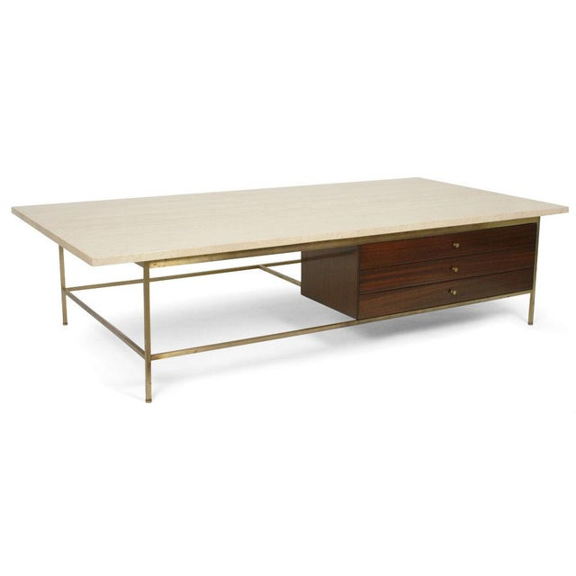 Superb Paul Mccobb For Calvin Italian Travertine Top Cocktail Table Decaso