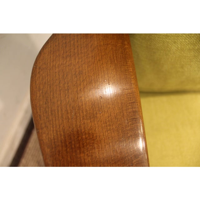 Mid-Century Danish Modern 'Citron' Walnut Open Arm Lounge Chair - Image 7 of 11