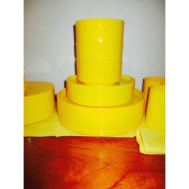 Massimo Vignelli Yellow Melamine Salad Bowl - Image 5 of 11
