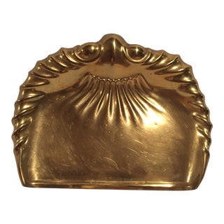 Antique Brass Edwardian Art Nouveau Crumbtray