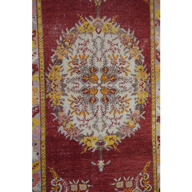 Vintage Turkish Oushak Rug - 3′2″ × 5′10″ - Image 2 of 4