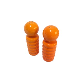 Orange Mid-Century Modern Salt and Pepper Shakers