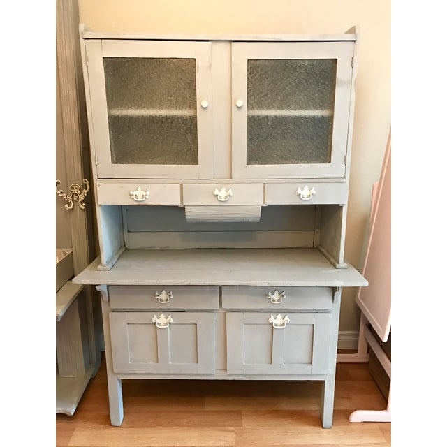 Vintage Gray Painted Hutch - Image 2 of 6