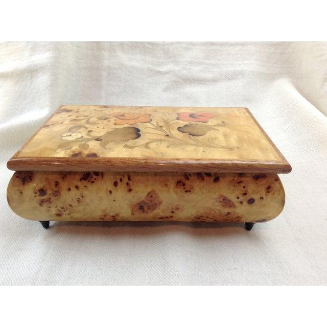 Image of Burled and Inlay Music Jewelry Box