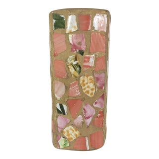 Rectangular Pink Mosaic Vase