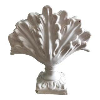 White Victorian Flower Frog / Vase