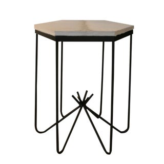 Richer Calf Hair Top Side Table