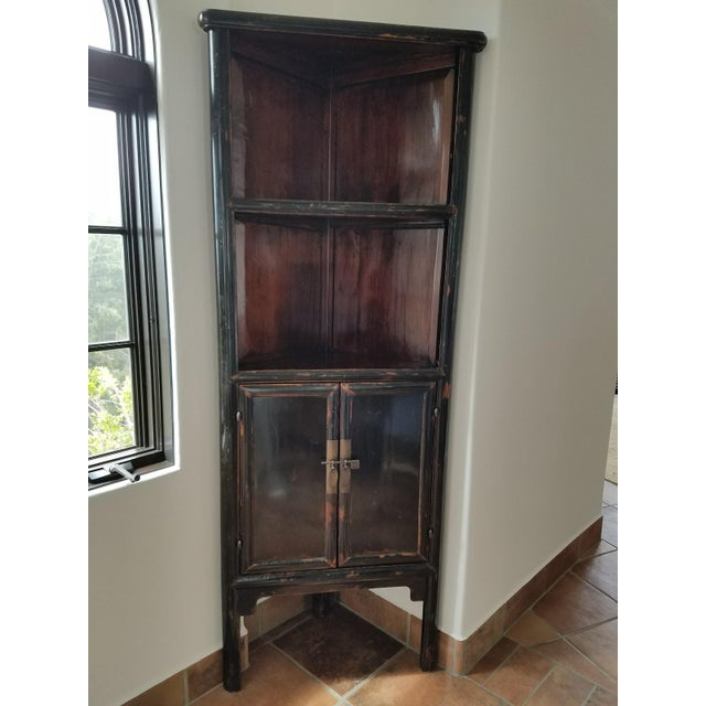 Antique chinese black lacquer corner cabinets a pair for 5 gorgeous pairs for antique white cabinets