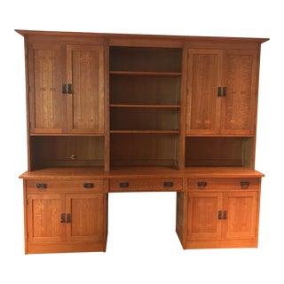 Stickley Oak Desk Cabinet