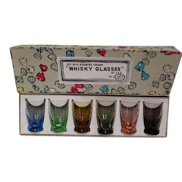 Image of Vintage Napco Whisky Shot Glasses - Set of 6