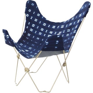 Indigo Mudcloth Butterfly Chair