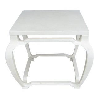Vintage Off-White Textured Occasional Table