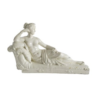 Reclining Ceramic White Goddess Statue