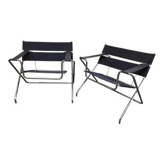 Pair of Breuer Folding Chairs From the Moma Design Collection