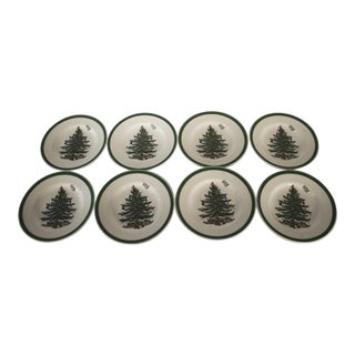 Spode Christmas Tree Bread & Butter Plates - Set of 8