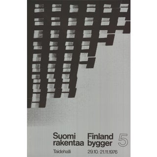 """""""Finland is Building"""" Serigraph Poster"""