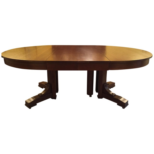 Antique Arts and Crafts Period Dining Table - Image 1 of 4