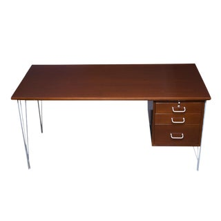Danish Modern Single Pedestal Desk