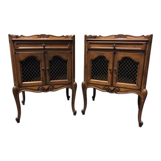 Vintage French Country Nightstands - A Pair