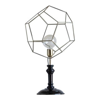 Geometric Brass Cage Modern Lamp, Holland