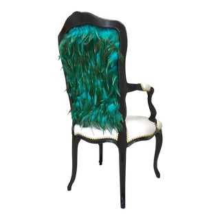 Modern Teal Feather Chair