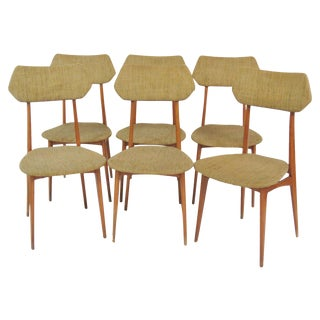 Danish Modern Teak Side Chairs - Set of 6
