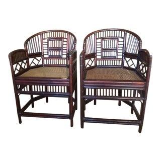 Elegant Bamboo & Rattan Chairs - a Pair