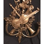 Image of Louis XVI Style Bronze Wall Candle Holders - A Pair