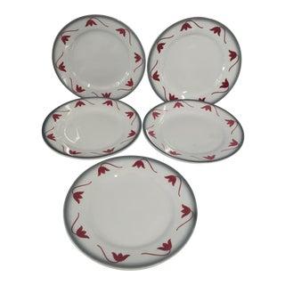 """Italian Ceramic """"Galvani"""" Dessert Plates - Set of 5"""